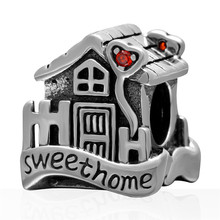 Fits Pandora Bracelets Sweet Home Sweet Home Charms Silver beads 925 Sterling Silver jewelry DIY making wholesale