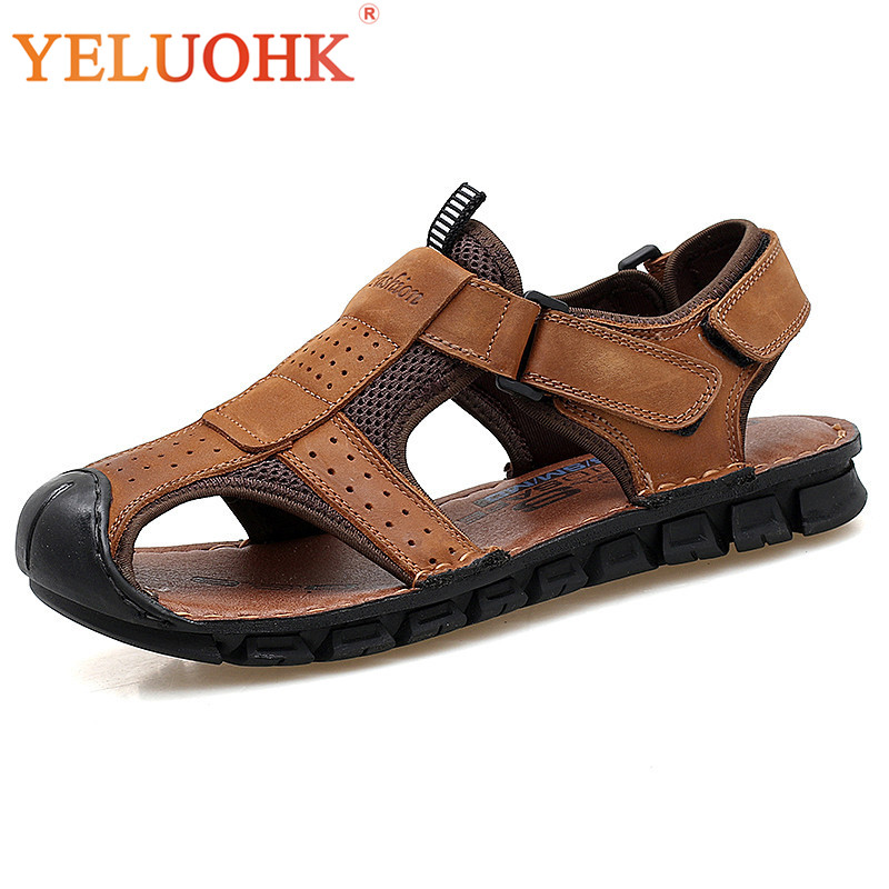 2018 Summer Men Sandals Soft Comfortable Leather Sandals Men Summer Shoes