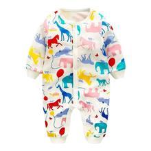 Vestiti del bambino Appena Nato Della Neonata Pagliaccetti Fashion Strisce  Baby Boy Pagliaccetti Manica Lunga Tute ec3992e0da6