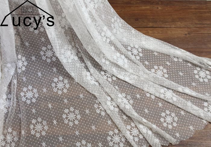 2017 High quality NEW lace fabrics 2 yards Off white and Black for home DIY Table lace windows lace Door lace nice! ...