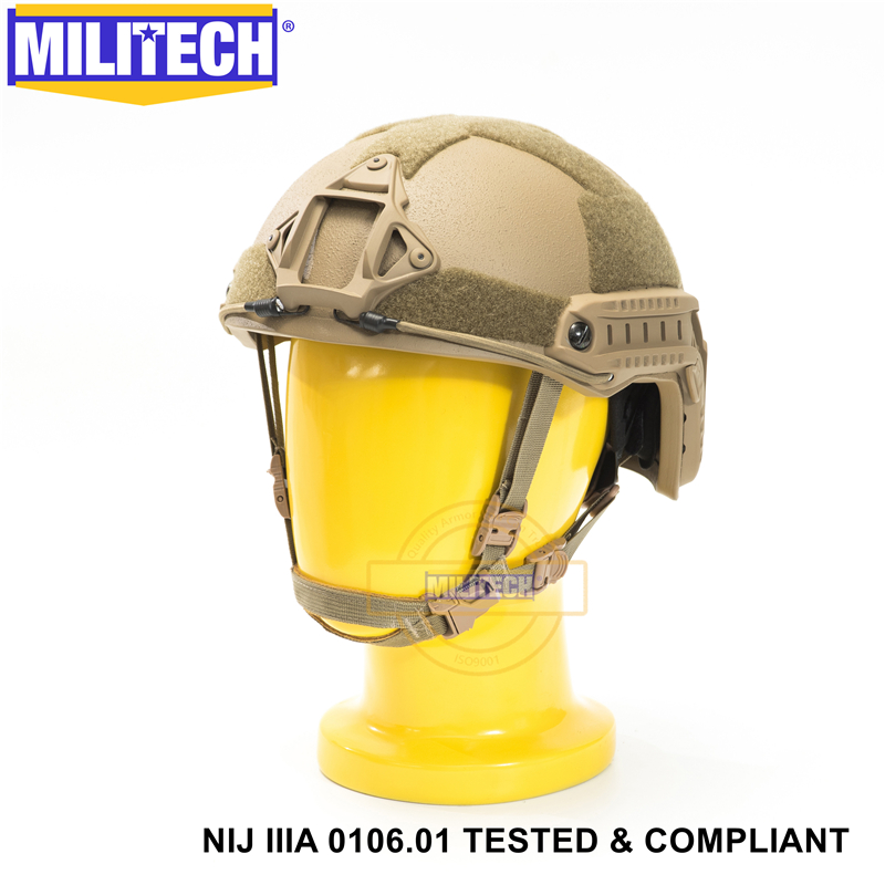 Image 4 - MILITECH Ballistic Helmet NIJ Level IIIA 3A ISO Certified FAST OCC Dial High Cut XP Cut Aramid Bulletproof Helmet With HelmetBag-in Self Defense Supplies from Security & Protection