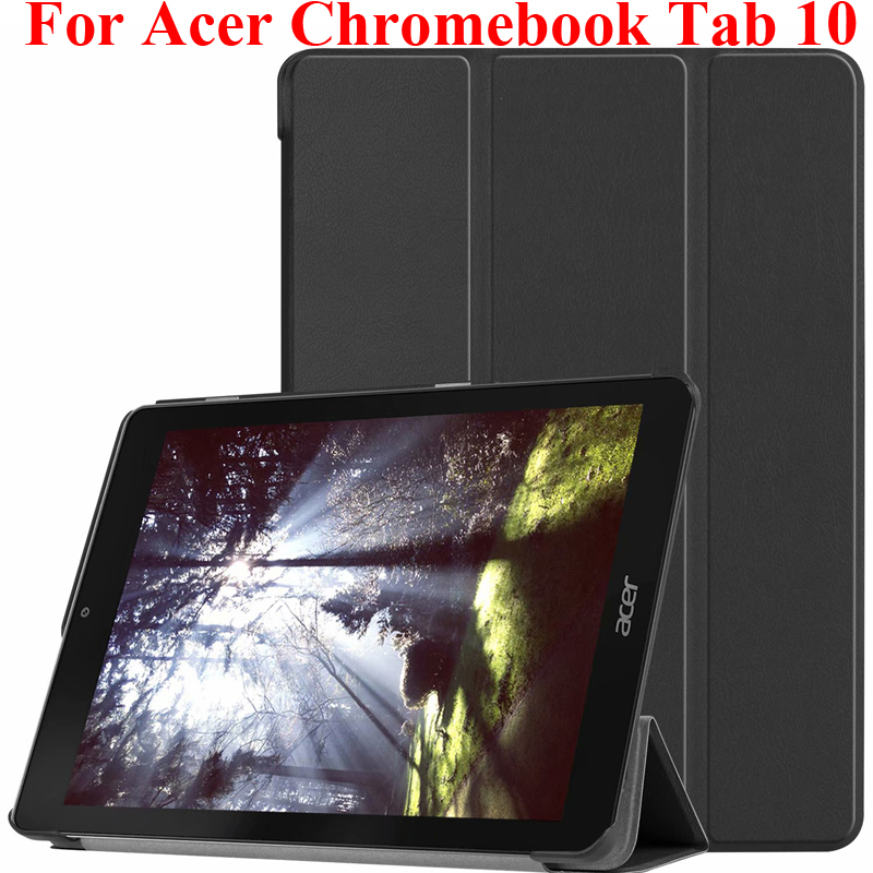 For Acer Chromebook Tab 10 Protector Stand Cover Pouch Capa Founda Auto Wake UP Sleep Case