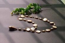 GLSEEVO Handmade Fresh Water Pearl For Women Party Wedding Long Necklace Jewelry Custom Sweater GN0085