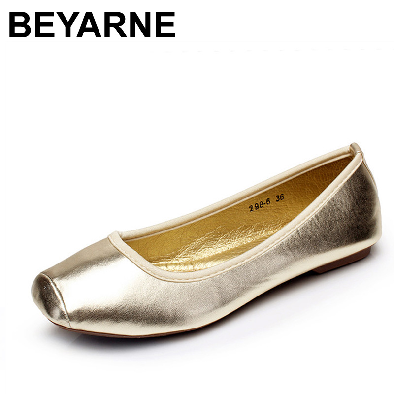 BEYARNE Female Shoes Fashion Low Heel Flat Shoes Women Flats Square Toe Women's Spring Autumn Shoes Size 35-41 Driver Work Shoes golden sequins shoes female loafer girl s fashion platform shoes women neon boat shoes woman flat low shoes autumn spring summer