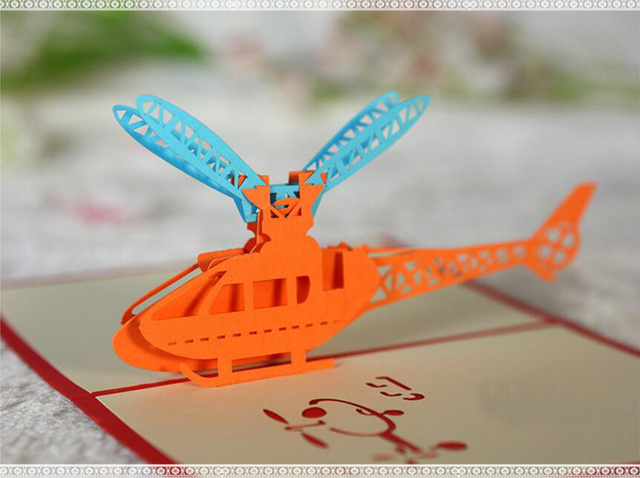 10pcs 3d Creative Helicopter Handmade Kirigami Origami Wedding Party