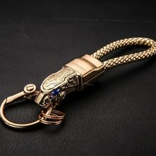 New Design All Metal Leopard Head Shaped Keychain Car Key Ring For Men Jewelry Accessories(China)