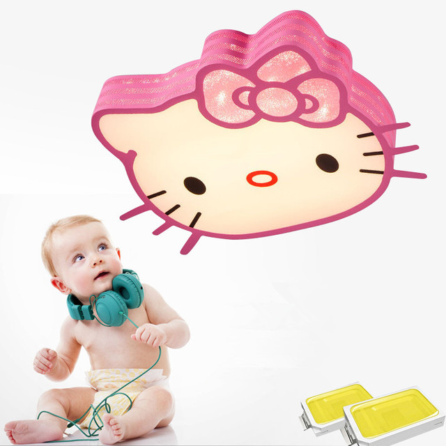 Hello kitty bedroom ceiling lights for Children Kids room lights surface mounted Lustre Cute Girls Bedroom Ceiling Lamp Fixtures