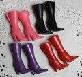 Разноцветный милый 30 см куклы красивые сапоги обувь для 1/6 девочка кукла высокая - каблуке сапоги острый 20 pairs/lot