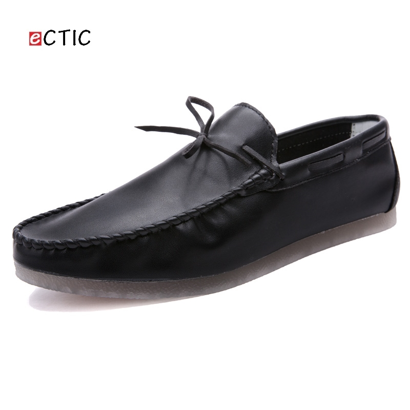 Ectic Microfiber Comfortable Men Moccasins Solid Color Basic Flast Sew Craft Treating Casual Shoes Boat Shoes Zapatos Hombre DS