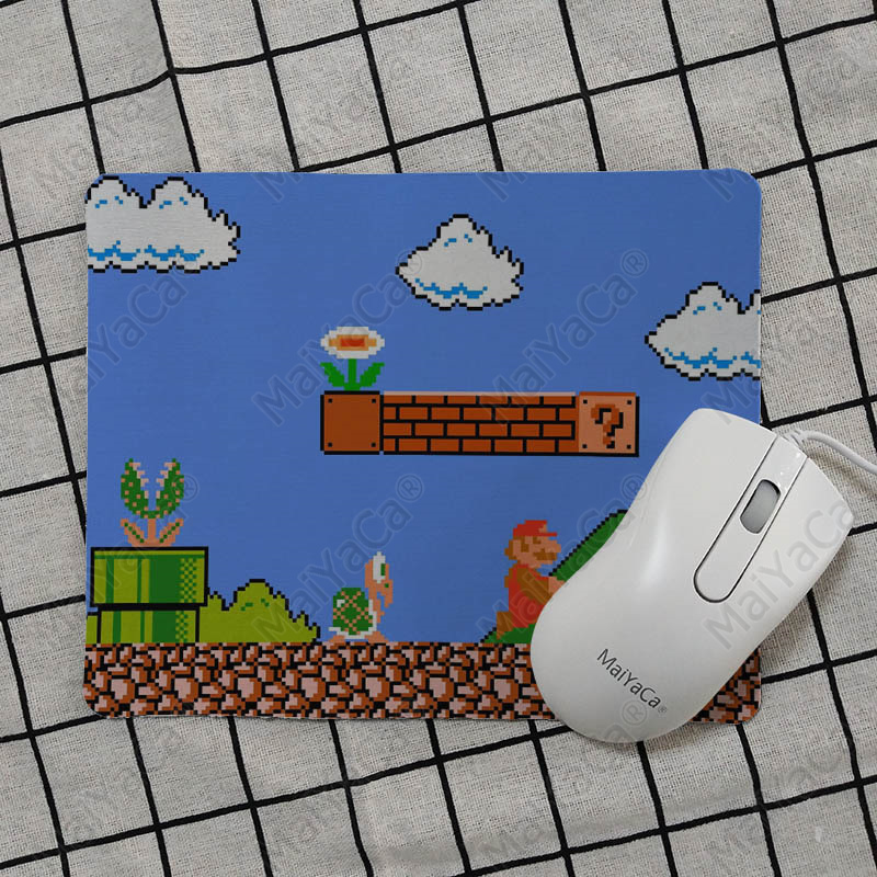 MaiYaCa New Designs super mario bros wii Customized laptop Gaming mouse pad Smooth Writing Pad Desktops Mate gaming mouse pad in Mouse Pads from Computer Office
