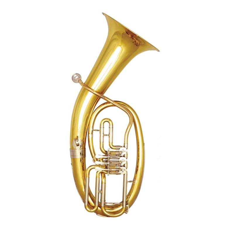 Bb Baritone 3 Valves hoen Brass Body Lacquer surface With Foambody case Musical Instruments professional