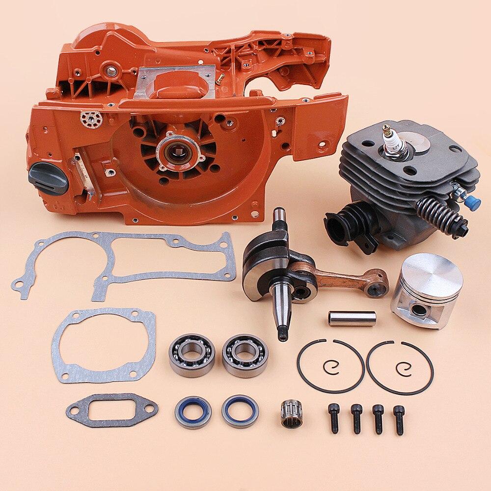 Engine Motor Crankcase Cylinder Piston Crankshaft Bearing Rebuild Kit fit HUSQVARNA 362 365 372 371 Gas Chainsaw Spares - 50MM