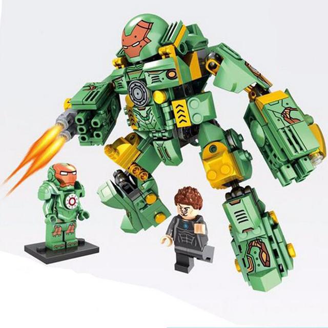 MK37 Bloques Huecos de Super Heroes Avengers Iron Man MARCOS 37 46 Ladrillos Modelo Juguetes Superhéroes Muchachos Regalos Compatible Lepin