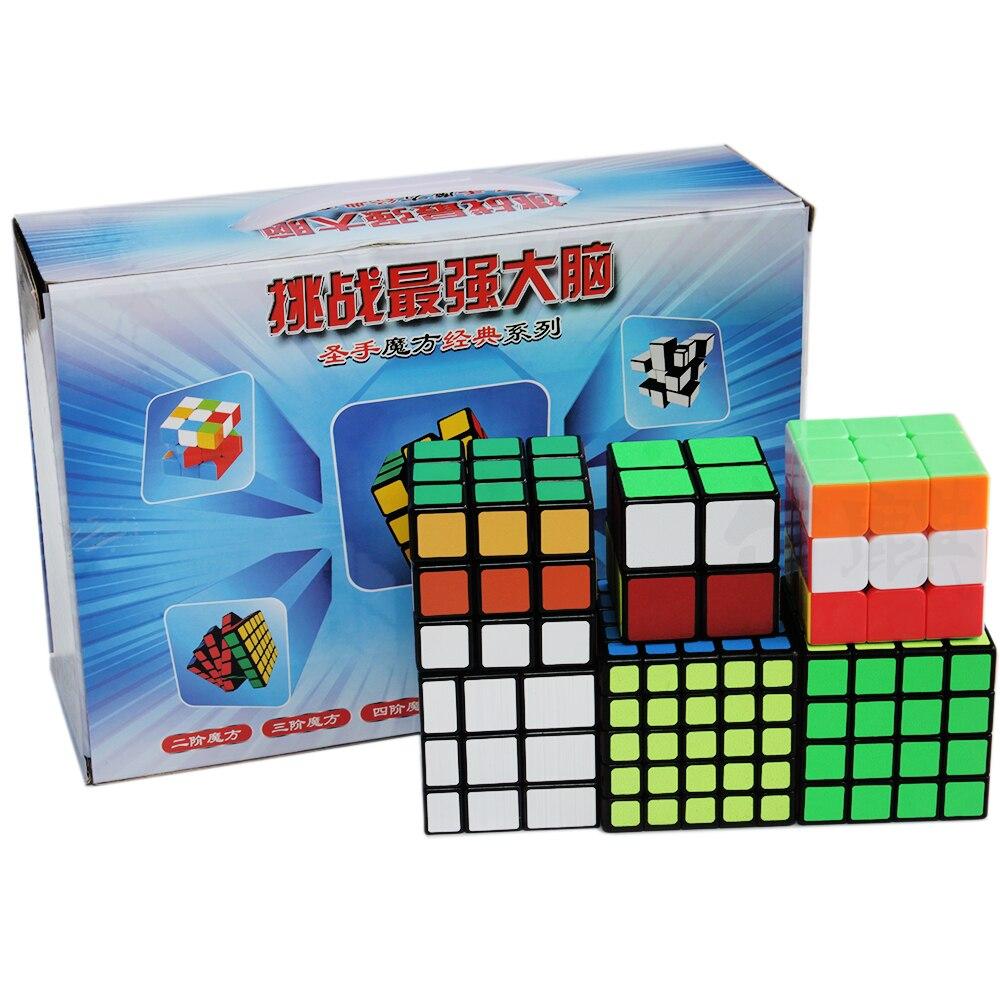 6 pièces/ensemble ShengShou 2x2 3x3 4x4 5x5 Puzzle Cube Magique 3*3 Cube 2*2 4*4 5*5 Miroir Cubes Cubo Megico