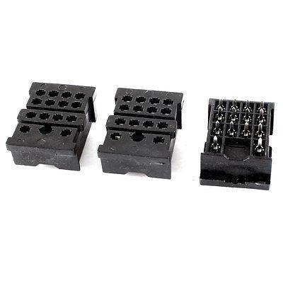 Подробнее о 3 Pieces Black 20 Pin Voltage Relay Socket Base Holder 18F-2Z-A2 10A 300V free shipping ac 300v 10 amp ah2 n afr 1 power relay 8 pin socket holder base 8pfa