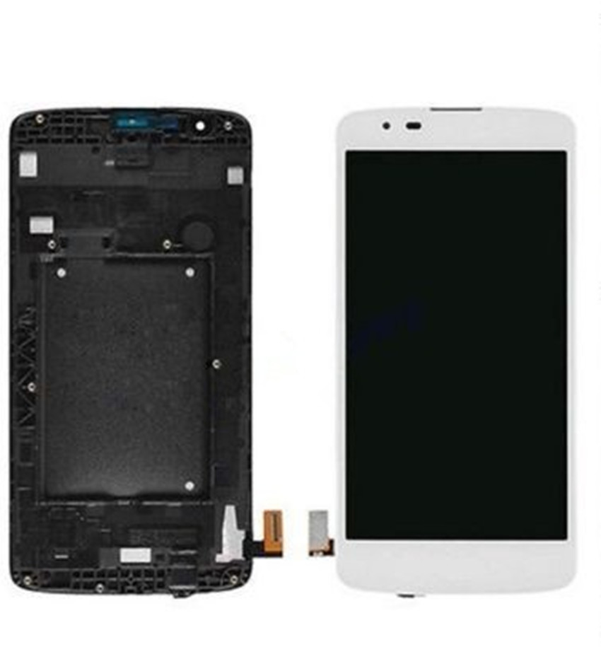 ФОТО  Full LCD Display Digitizer Touch Screen Assembly with Frame For LG K8 LTE K350N K350E K350DS free shipping