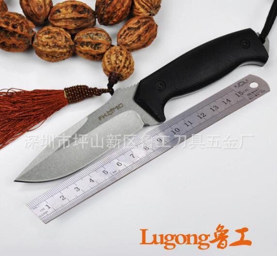 FOX D2 Steel fixed blade font b tactical b font hunting font b knife b font
