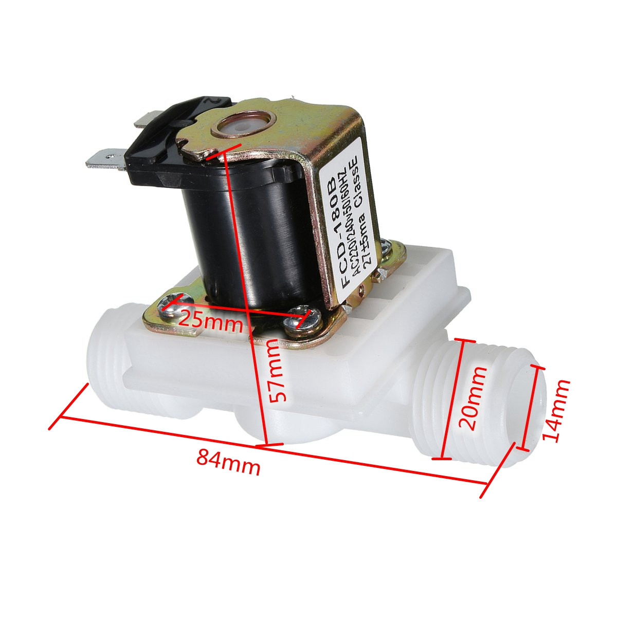 New Best Price 1Pcs AC220V Electric Solenoid Valve Magnetic N/C Water Air Inlet Flow Switch N/C 1/2 ...