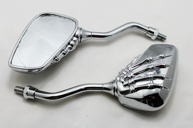Motorcycle refit parts halley refit rearview mirror human skeleton motorcycle refit parts halley refit rearview mirror human skeleton hand ghost head hand rearview mirror reflector ccuart Image collections