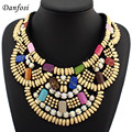 Hot Sell Indian Style Colorful Wooden Beads Necklaces For Women Dress Match,Fashion Hand Made Collar Jewelry
