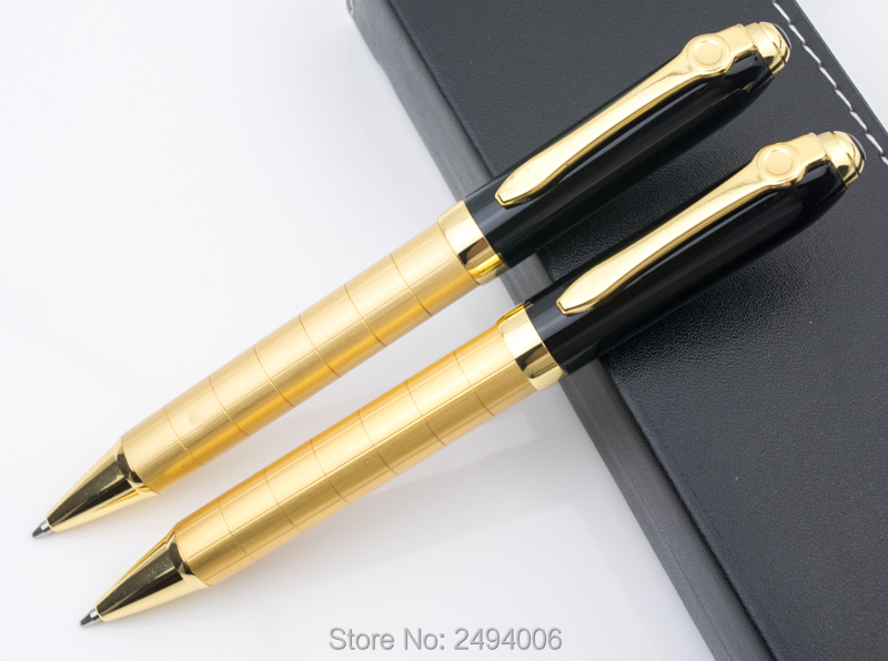 1 0mm Medium refill Gold Clip Black metal Pens Pencils Writing Supplies Ballpoint Pens Office School Supplies in Ballpoint Pens from Office School Supplies
