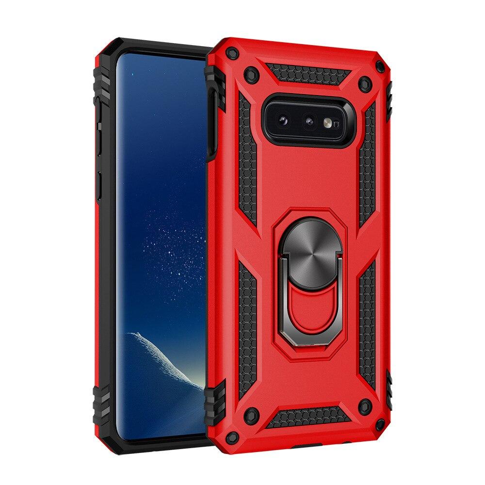 100pcs lot Ring Holder Kickstand Shockproof Armor phone back Case For Samsung S10 e 5G M10