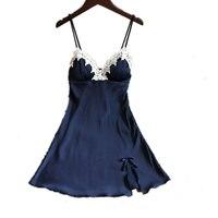 6 цветов плюс Размеры шелк Кружево Для женщин пижамы дамы сексуальное женское белье Sleepdress Ночная сорочка ночная рубашка трусы домашняя одеж...