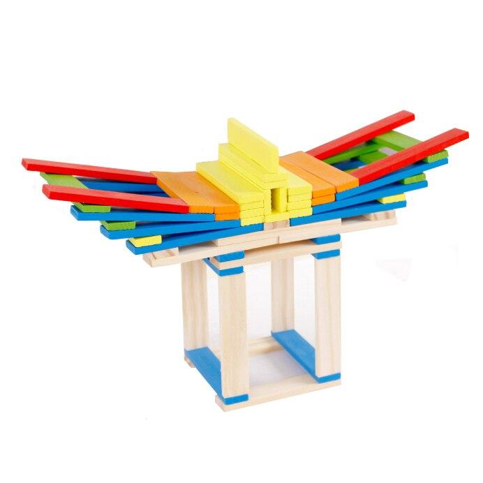 Chanycore Bébé D'apprentissage Éducatifs En Bois Jouets Jenga Blocs Domino 102 pcs mwz Forme Géométrique Montessori Enfants Cadeaux 4148