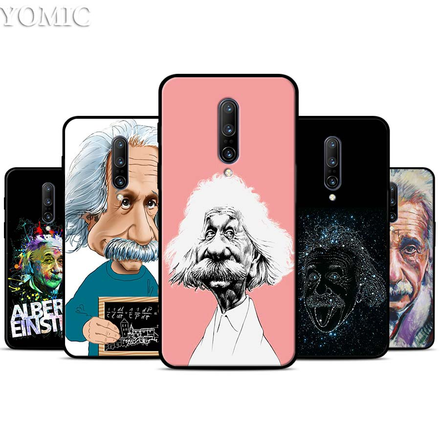 Albert Einstein Physical Silicone Case for font b Oneplus b font font b 7 b font