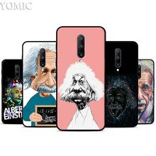 Albert Einstein Physical Silicone Case for Oneplus 7 7Pro 5T 6 6T Black Soft Case for Oneplus 7 7 Pro TPU Phone Cover