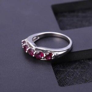 Image 2 - GEMS BALLET Solid 1.84Ct Natural Rhodolite Garnet Ring 925 Sterling Sliver Wedding Band Simple Rings For Women Fine Jewelry