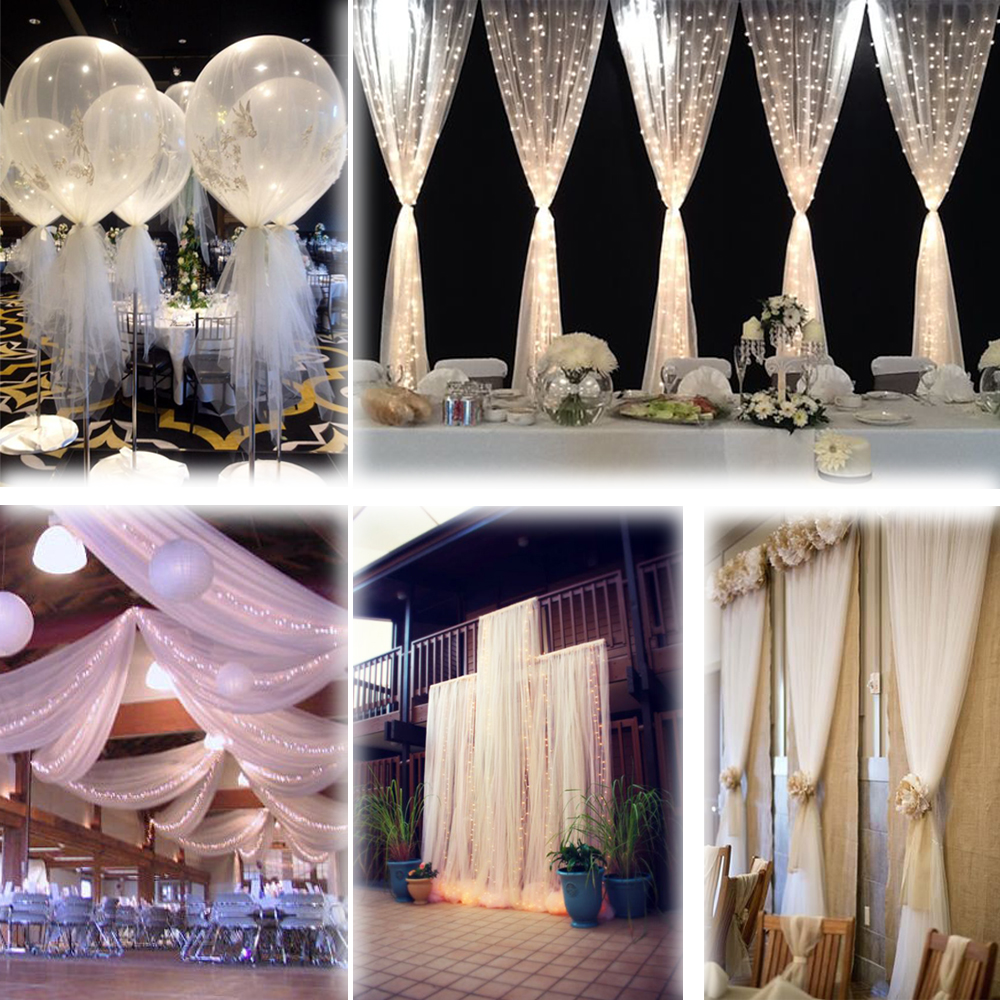 "Decorations For A Halloween Party: White 54""x120 FT (40 Yards) TULLE Bolt Wedding Decoration"