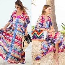 Летнее женское бикини с цветочным рисунком, платье с разрезом по бокам, женский кардиган, Пляжное Платье-накидка, сарафан