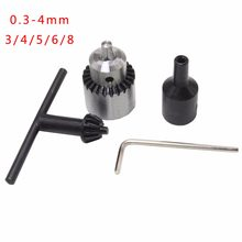 New Electric Drill Chucks Mount JTO Taper Cap 0.3-4mm fit Lathe PCB Mini Drill Press for 6mm Motor Shaft Shank Rotary Tools(China)