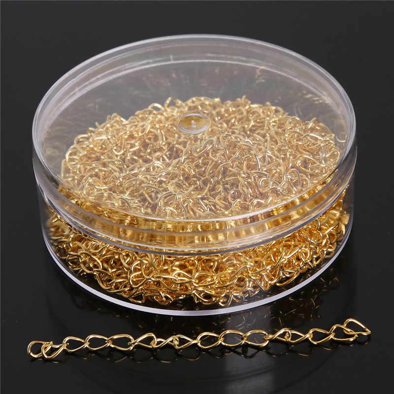 100-500 יח'\סט קפיצת טבעת/חרוזים כובעי/מורחב שרשרות/סיכות/מחיאות/עגיל ווי Box packagingJewelry ממצאי תכשיטים