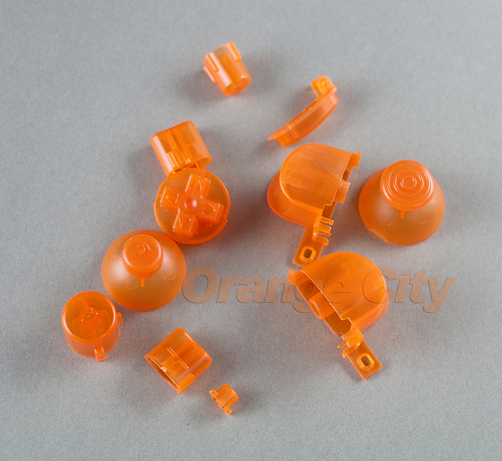 100sets Full set L R ABXY Z Keypads Buttons For GameCube Buttons Frame For  NGC D Pads Power ON OFF Buttons & Joystick Stick Cap