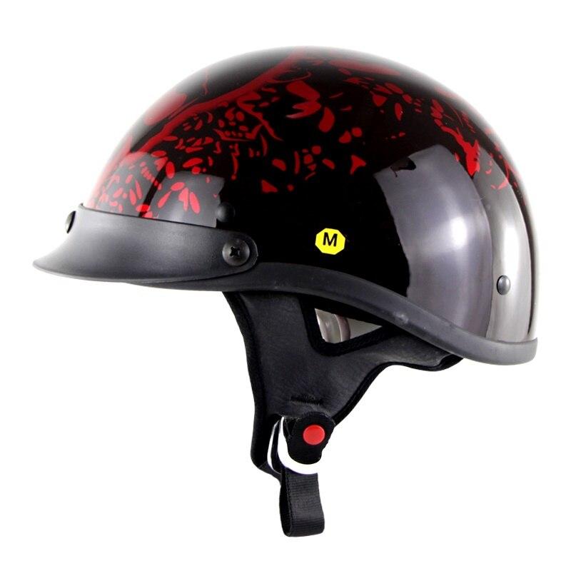 Motorbike Scooter Capacetes Skull Motorcycle Helmet Germany  Helmet DOT