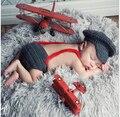 Bebé recién nacido Fotografía Atrezzo Sombrero Ropa de Las Bragas Conjunto Infantil de Punto de Ganchillo Traje Trajes + Pants Ropa de Bebé Foto Desgaste Suave