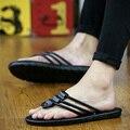 The summer leisure brand men FLOPS SANDALS drag pinch fashion Korean slip sandals