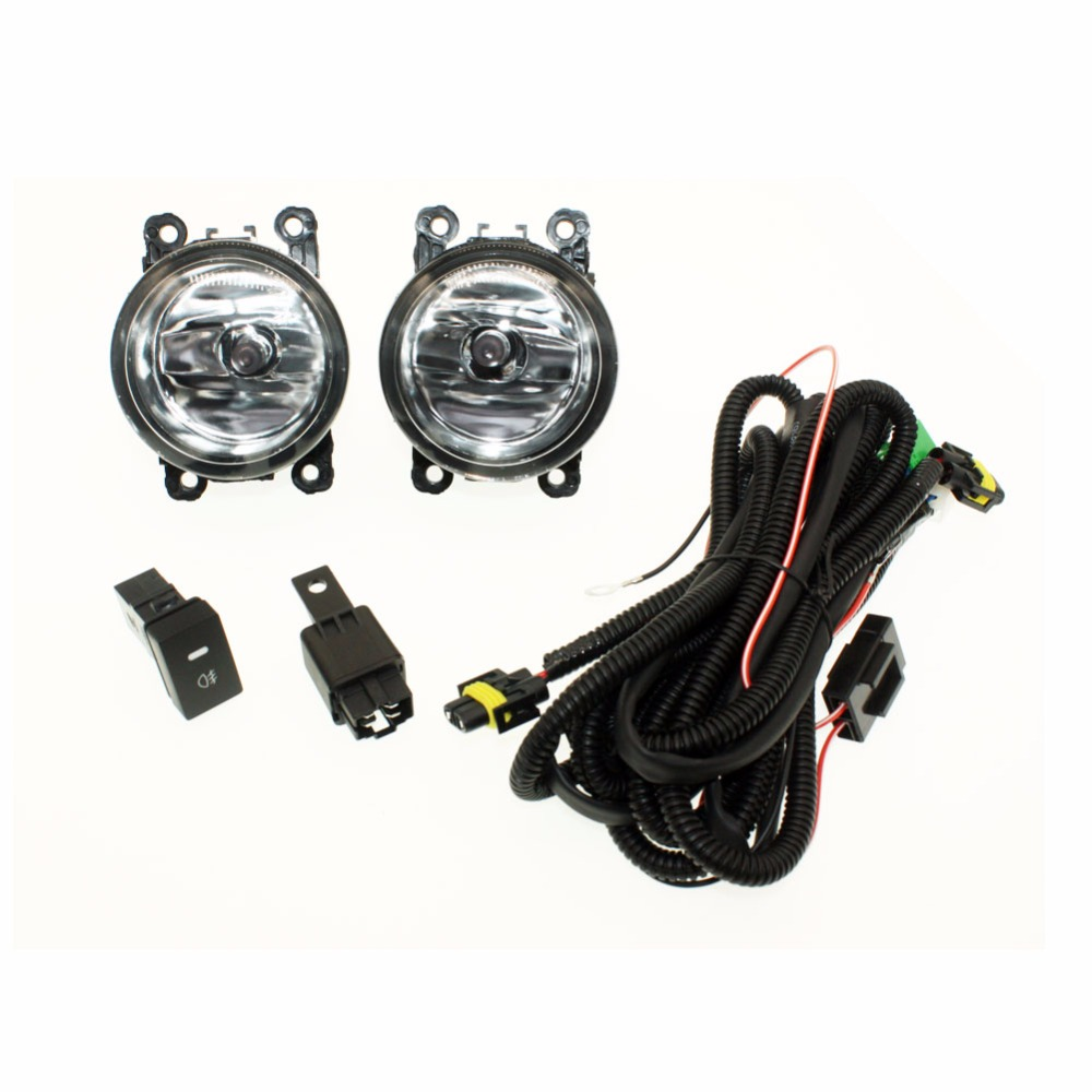 For Ford C-Max / Fusion 2013- H11 Wiring Harness Sockets Wire Connector Switch + 2 Fog Lights DRL Front Bumper Halogen Car Lamp for honda crosstour 2013 2014 h11 wiring harness sockets wire connector switch 2 fog lights drl front bumper led lamp