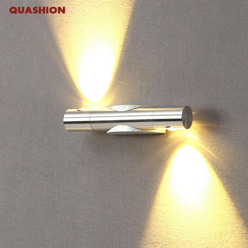 Popular mondern direction adjustable wall lamp up and down lighting 85 265V 2W led bedside light