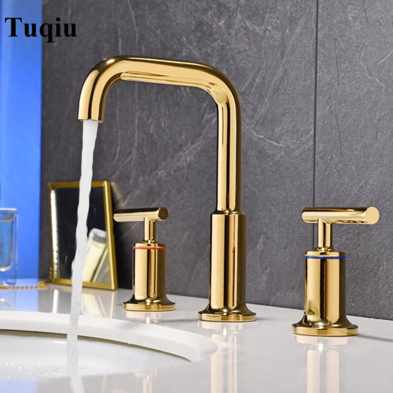 Basin Faucets Polished Gold North American Style Bathroom