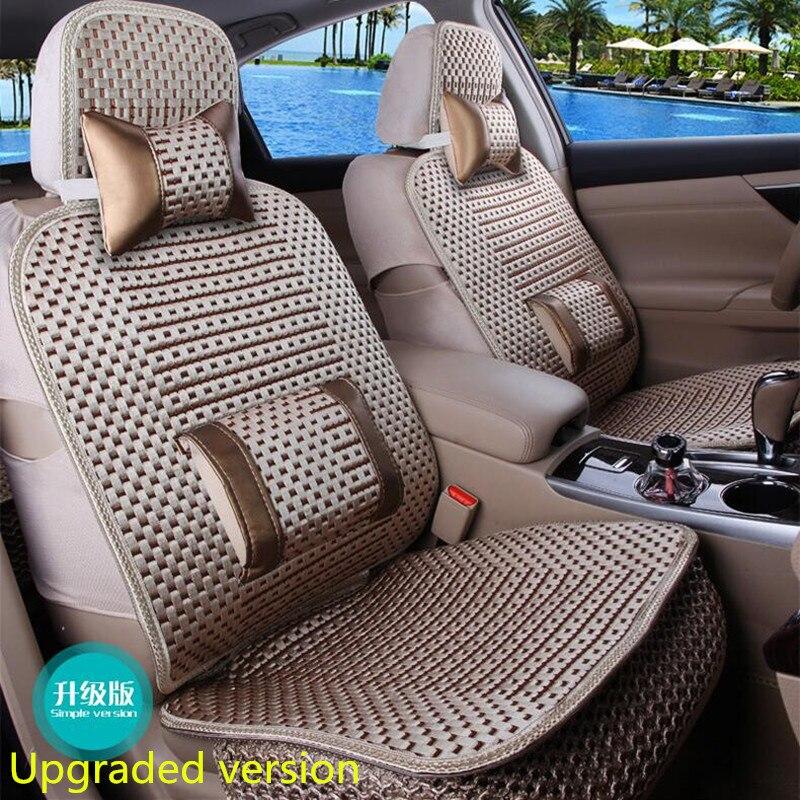 La almohadilla de cojín de coche de tamaño universal se adapta a la mayoría de autos solo cojín para asiento frío de verano cuatro estaciones en general cubierta de asiento de coche - 2