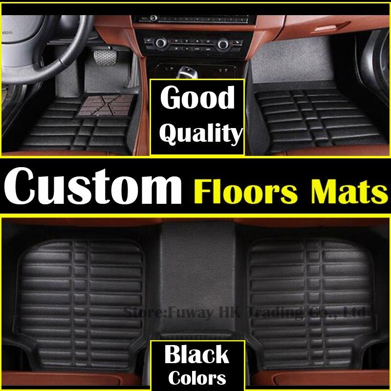 Haute résistance pédale personnalisé tapis de sol en cuir pour PEUGEOT 408 3008 207 307 508 2008 206 301 3008 3D voiture style tapis liner