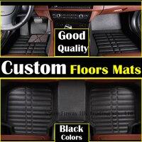 high strength pedal Custom car floor mats leather for PEUGEOT 408 3008 207 307 508 2008 206 301 3008 3D car styling carpet liner