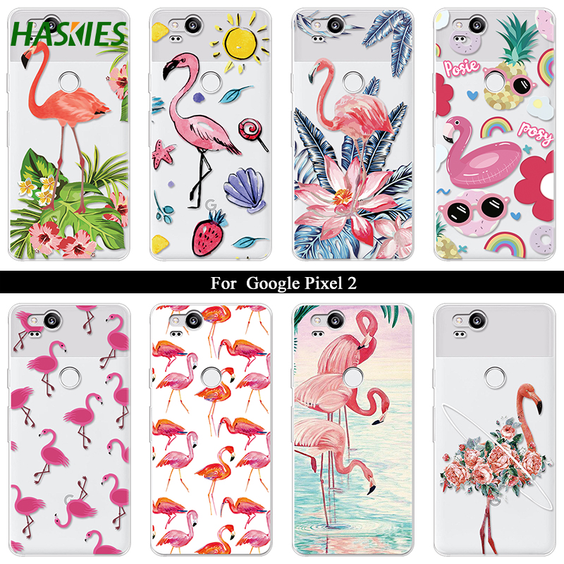 Cartoon Leaf Firebird Case For Google Pixel 2 Case Silicone Ultra Thin Soft TPU Rubber Transparent Flower Clear Back Print Cover