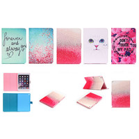 Flirting Cat Eyes Cover Protector for apple ipad air 2 ipad 6 Air2 glitter PU leather tablet cover case with stand holder