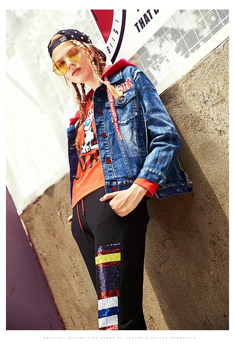 Ladies Loose Jeans Coats Plus Size Jean Jacket For Women Autumn Spring Long Sleeve Overcoat Short Top Jackets 2018 New CH573 (4)