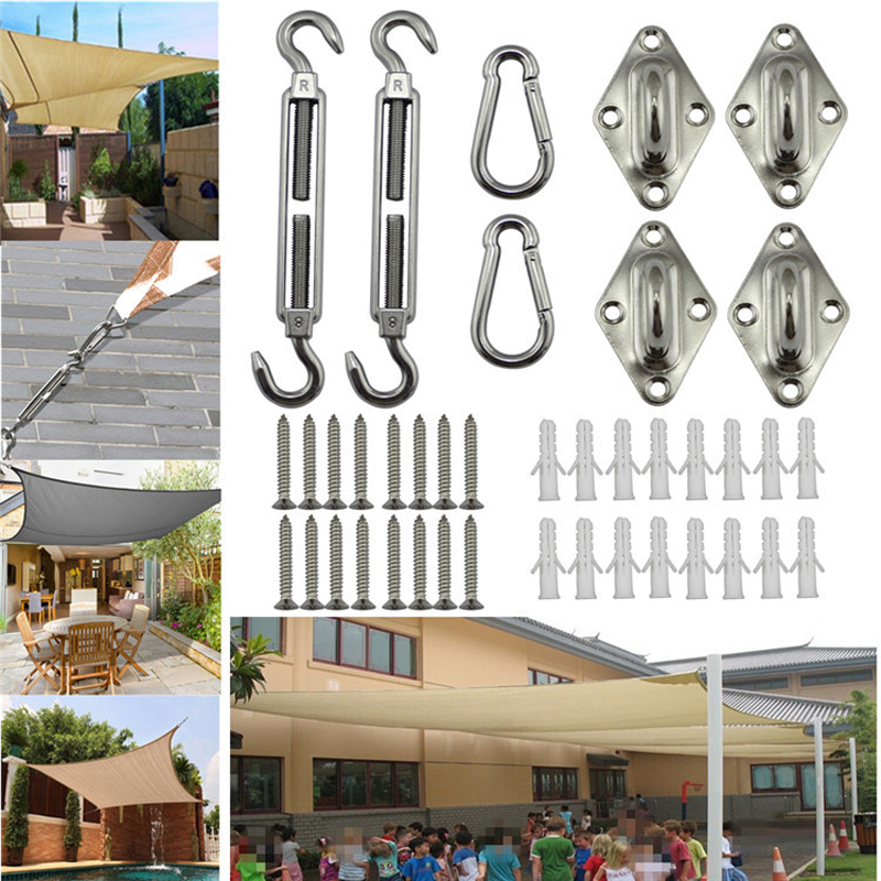 HEHEMM Kit Sun Shades Steel 8MM Sailing Boat Stainless Accessories Canopy Accessory Marine Fixing 2