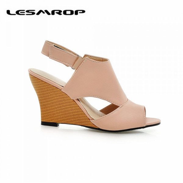 Large size 35 43 brand new women 39 s shoes fish head buckle for Fish head shoes